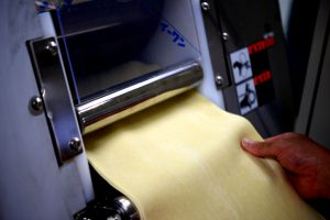 combining process in ramen noodle making process