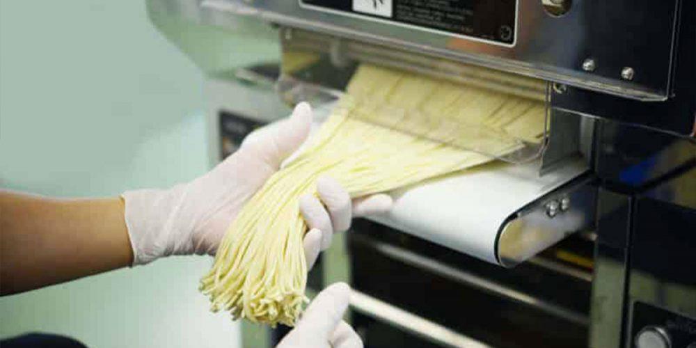noodle making machine - cutting process